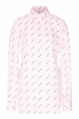 Розовая рубашка с принтом Balenciaga 397147847