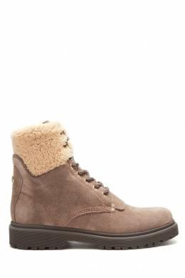 Бежевые ботинки с меховой отделкой Moncler 34147951