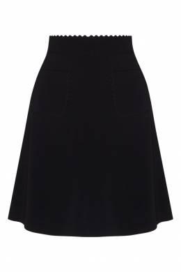 Черная юбка с фактурной отделкой Red Valentino 986146950
