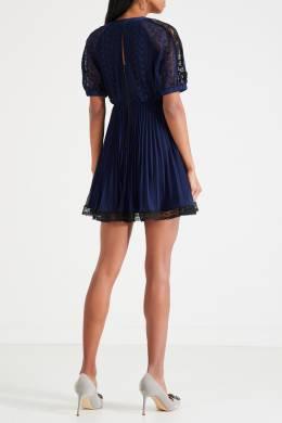 Короткое платье с драпировкой на талии Self-portrait 532148140