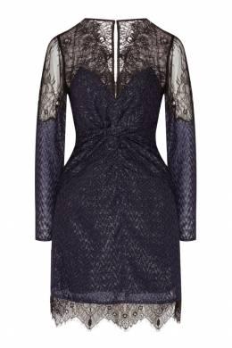 Темно-синее платье с жаккардовым узором Self-portrait 532148143