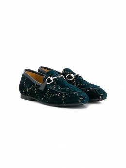 Gucci Kids лоферы с монограммой 5789989TIU0