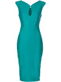 Zac Zac Posen - приталенное платье с каплевидным вырезом 95596389503095000000