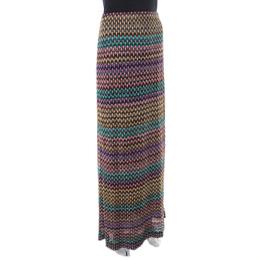 Missoni Multicolor Geometric Pattered Knit Maxi Skirt S 219425