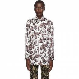 Mm6 Maison Margiela White Floral Print Shirt 192188F10901702GB