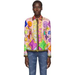 Versace Multicolor Perfume Print Shirt 192404F10900903GB