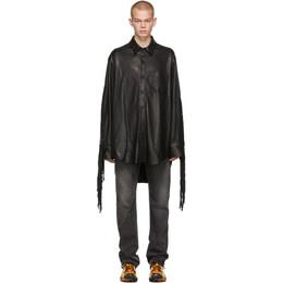 Vetements Black Lambskin Fringe Shirt 192669M19200702GB