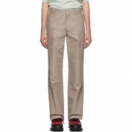 Raf Simons Taupe Illusion Straight Fit Trousers 192287M19101501GB
