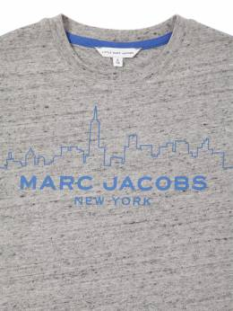 "Футболка Из Хлопкового Джерси С Принтом ""skyline"" Little Marc Jacobs 70IFGE028-QTIy0"