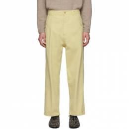 Haider Ackermann Yellow Workwear Trousers 192542M19100607GB