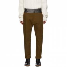 Haider Ackermann Brown Contrast Waistband Trousers 192542M19101202GB