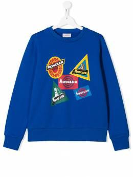 Moncler Kids толстовка с нашивкой-логотипом 8028050809B3