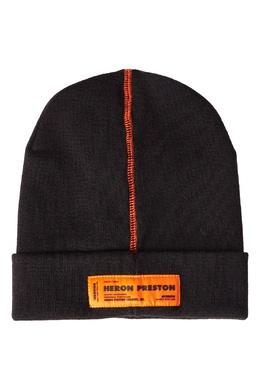 Черная шапка с контрастной отделкой Heron Preston 2771148102