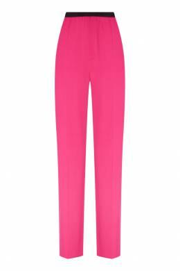 Розовые брюки с контрастным поясом Balenciaga 397147845