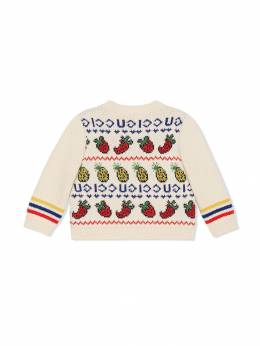 Gucci Kids кардиган с вышивкой 580163XKAVT