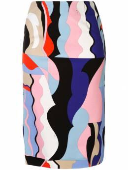 Emilio Pucci - юбка-карандаш с принтом V309R356959958630000