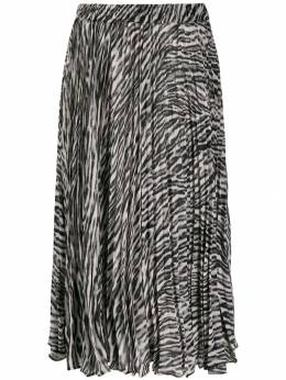 Michael Michael Kors - юбка со складками и леопардовым принтом 3EZ6CDA9553599900000