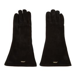 Undercover Black Suede Gloves 192414M13500101GB