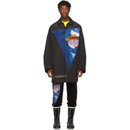 Undercover Black Valentino Edition V Face UFO Print Coat 192414M17602802GB