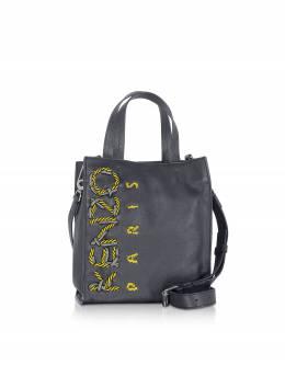 Kenzo Cord -Темно-синяя Кожаная Сумка Tote Bag F965SA509L45.76 BLEU MARINE