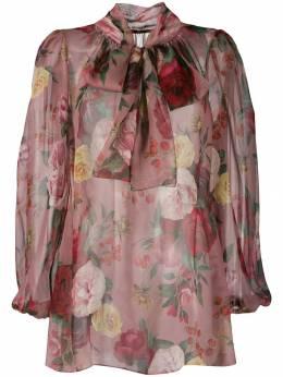 Dolce&Gabbana - блузка с цветочным принтом N3THS96K950958650000