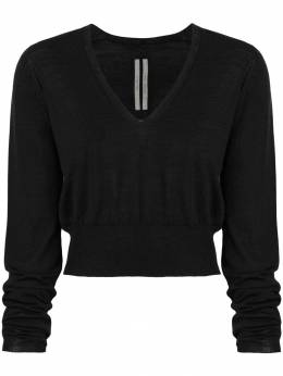 Rick Owens v-neck cropped sweater RP18F4638M