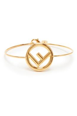 Золотистый браслет с логотипом Fendi 1632149439
