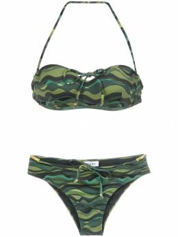 Amir Slama wave print bikini set 10237