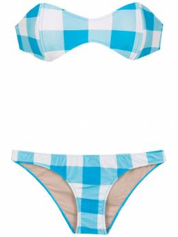 Adriana Degreas checked sleeveless bikini set V19BITC0763
