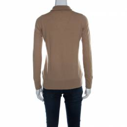 Loro Piana Tan Brown Cashmere Turtleneck Long Sleeve Sweater M 219683