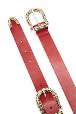 Красный ремень с двумя пряжками Maje 888149624