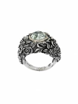 Ugo Cacciatori gem and foliage solitary ring RN092