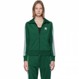 Adidas Originals Green Firebird Zip-Up Sweater 192751F06300802GB
