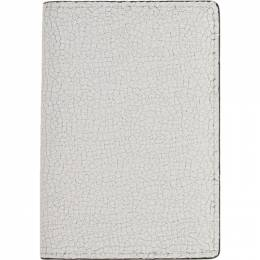Common Projects White Cracked Folio Wallet 192133M16400501GB
