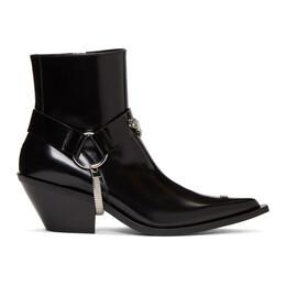 Misbhv Black Patent Cowboy Boots 192937F11301603GB