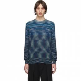 Missoni Blue and Black Crewneck Sweater 192884M20100401GB