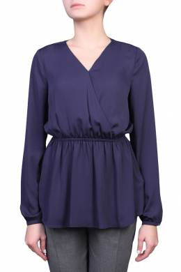 Синяя блузка с эластичной отделкой Tommy Hilfiger 2838149710