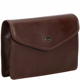 Burberry Brown Leather Clutch Bag