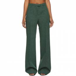 Givenchy Green Look 16 Plaid Trousers 192278F08700201GB