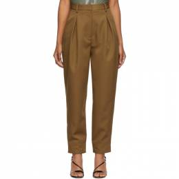 Tibi Tan Recycled Techy Pleated Trousers 192095F08701004GB