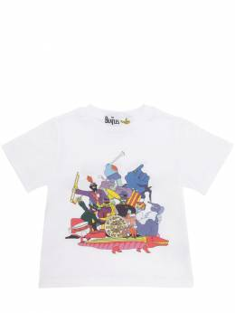 Футболка Из Хлопкового Джерси С Принтом Beatles Stella McCartney Kids 70I6SJ006-OTA4Mg2