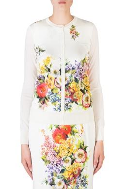 Белый костюм с цветами Dolce&Gabbana 599150036
