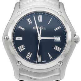 Ebel Wave Black Dial Stainless Steel New Men'S Watch 42MM 223545