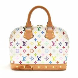 Louis Vuitton White Multicolor Monogram Canvas Alma PM Bag 214964