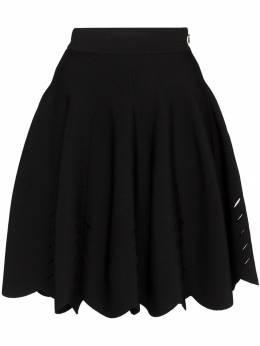 Alexander McQueen - расклешенная юбка мини с вырезными деталями 009Q9AE8939593330000