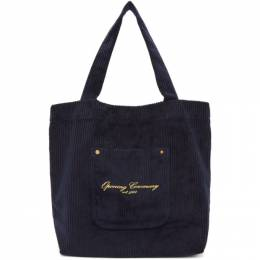 Opening Ceremony SSENSE Exclusive Navy Corduroy Big Pocket Tote F18ZDN27015