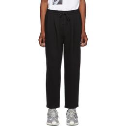 Juun.J Black Cotton and Wool Lounge Pants 192343M19000503GB
