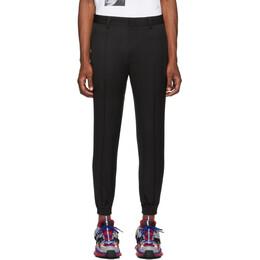 Juun.J Black Wool Tapered Trousers 192343M19100504GB