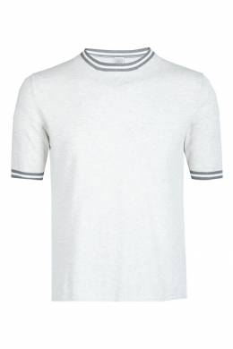 Серая футболка с отделкой Eleventy 2014149802