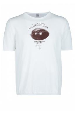 Белая футболка с принтом Eleventy 2014149778